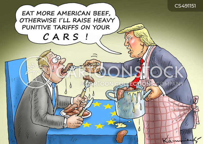 trade deals cartoon