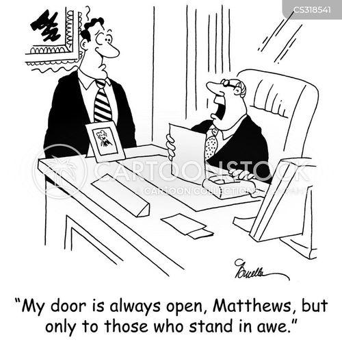 Door Is Open Cartoons and Comics - funny pictures from CartoonStock