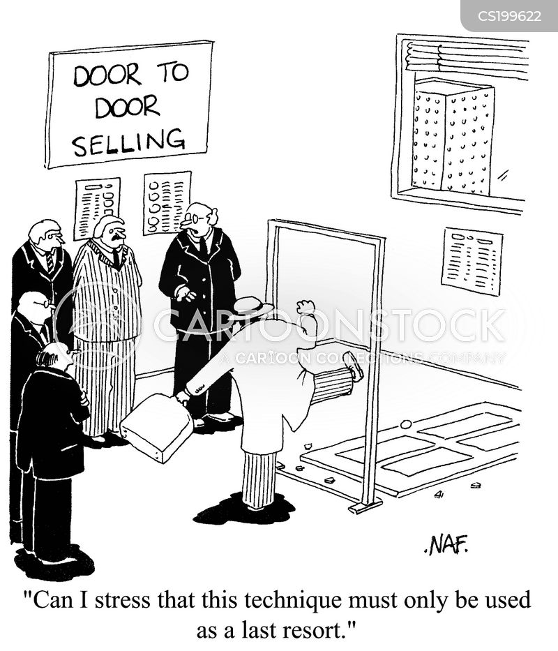 Last resorts cartoons and comics funny pictures from for Door to door salesman