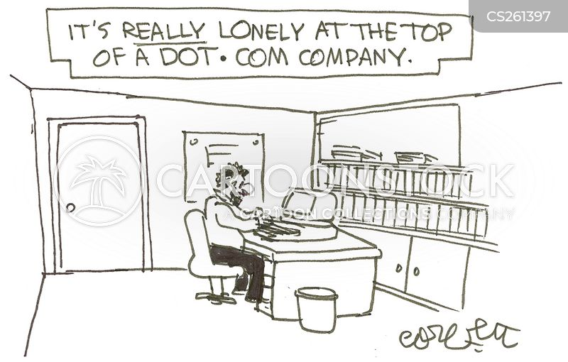 dot coms cartoon