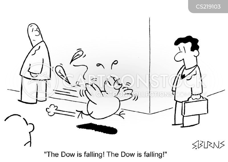 dow jones index cartoon