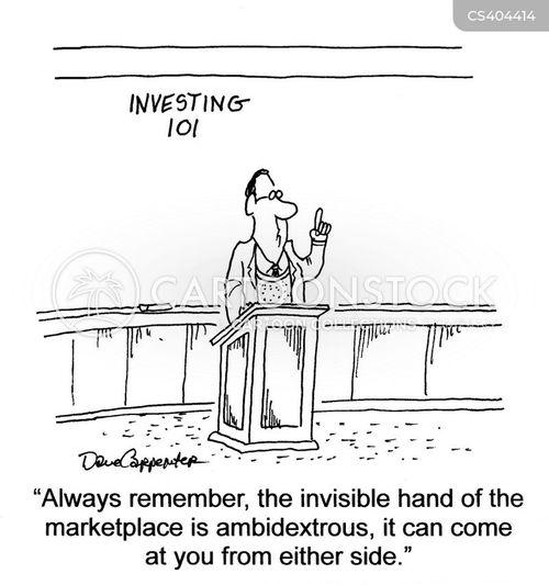 market trends cartoon
