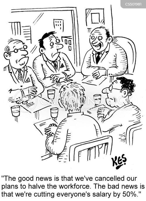 pay-cut cartoon