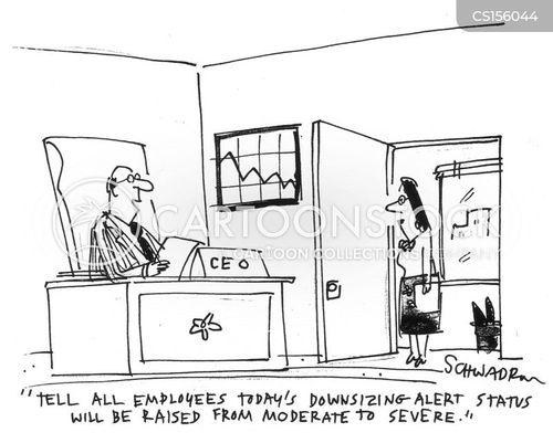 downsizing alert cartoon