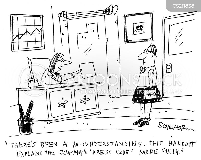 company dress codes cartoon