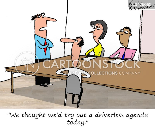 driverless cartoon