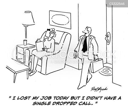 dropped call cartoon