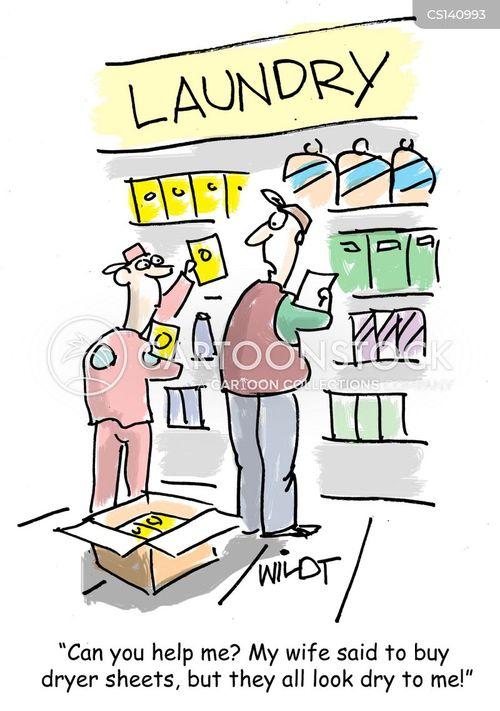 laundry product cartoon