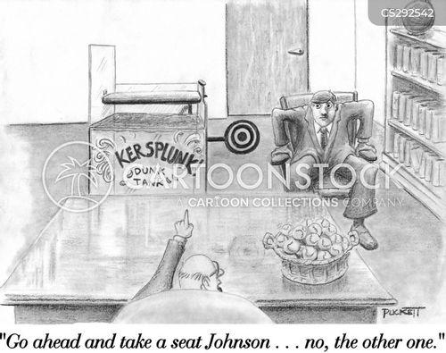 dunk tank cartoon