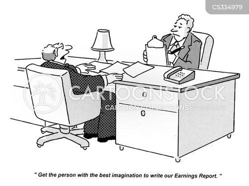 earnings reports cartoon