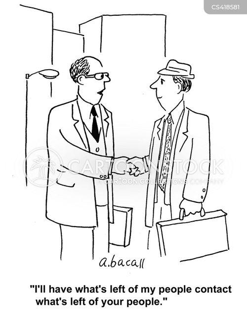 business negotiation cartoon