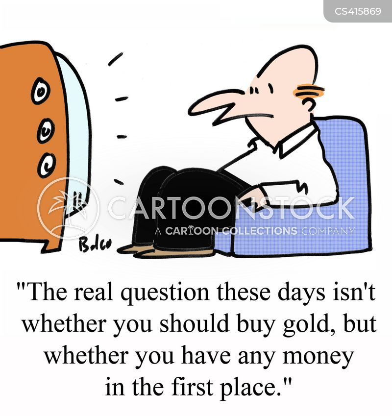 gold shops cartoon