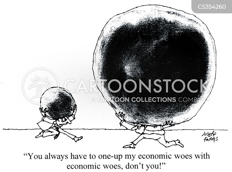 economic trouble cartoon