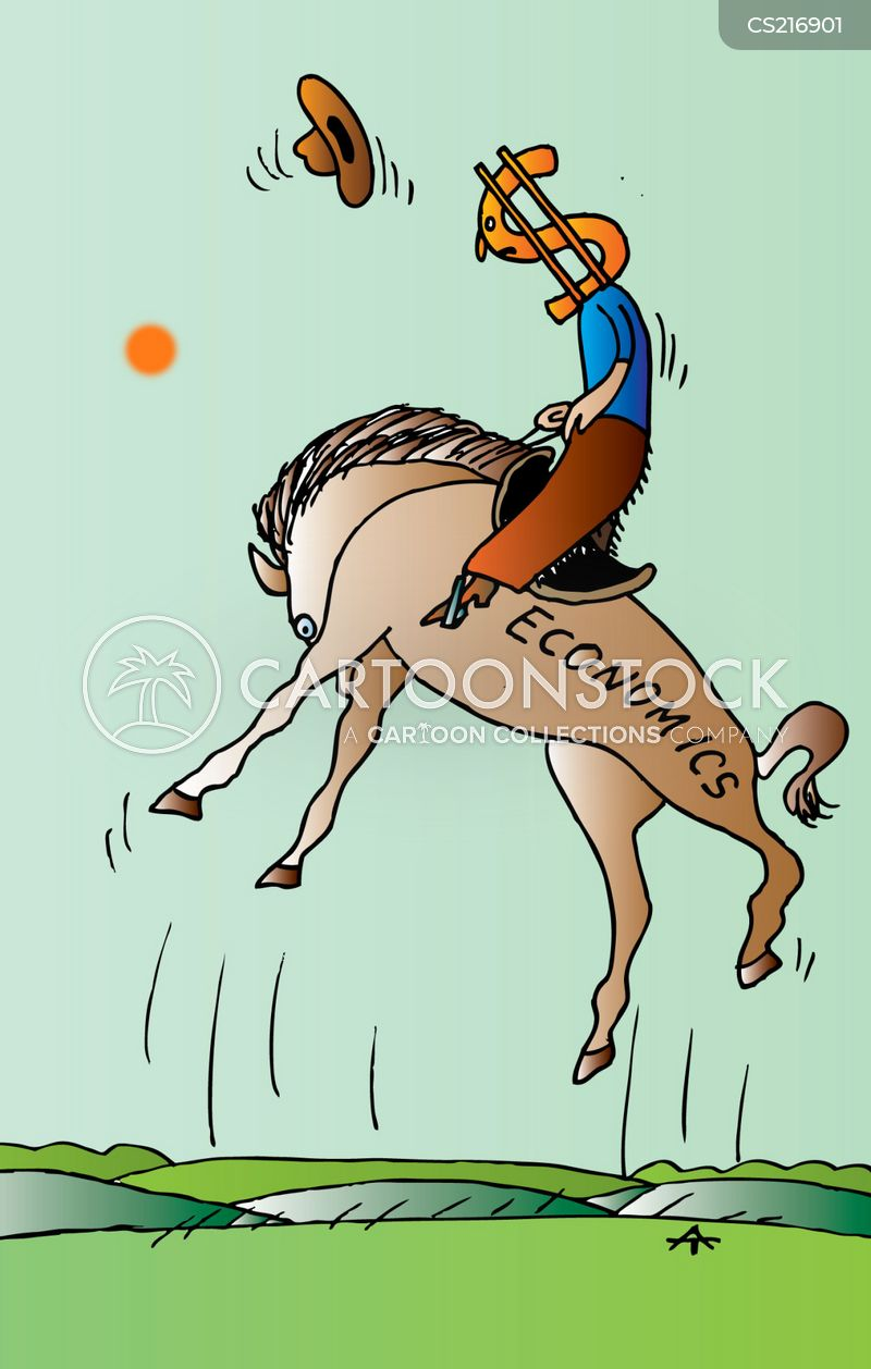 bucking horse cartoon