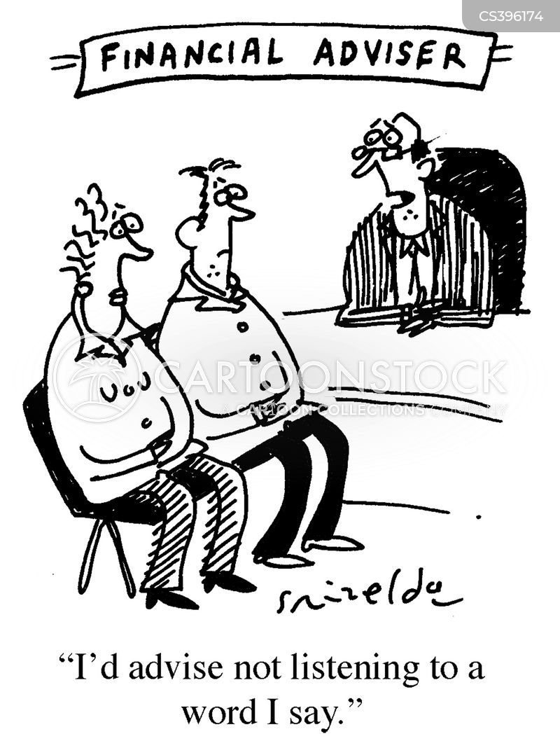 financial pages cartoon
