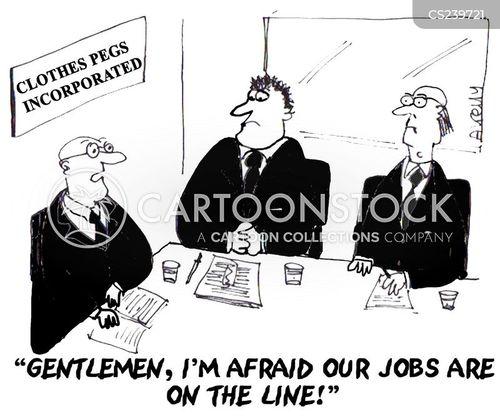 losing jobs cartoon
