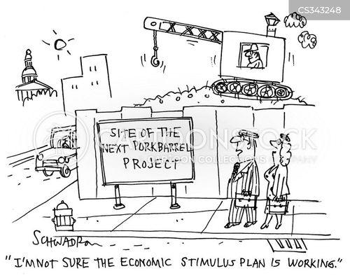 economic stimulus plan cartoon
