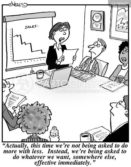 poor performance cartoon