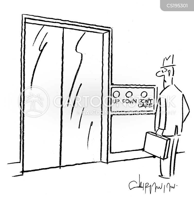 lift button cartoon