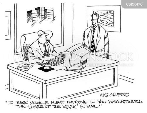 low morale cartoon