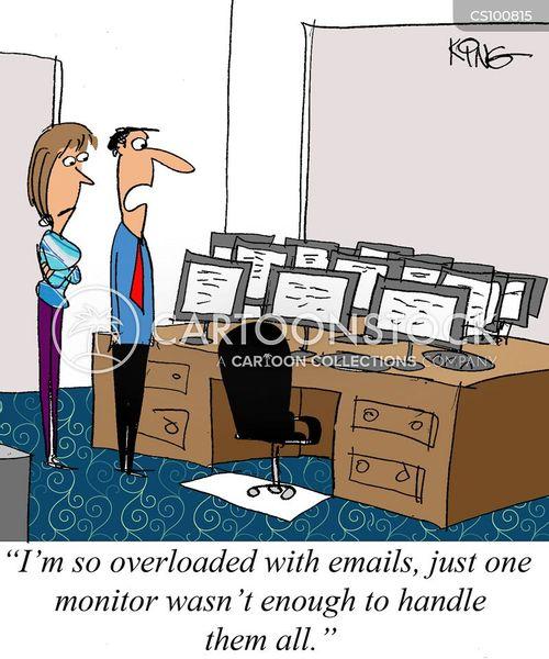 overloaded cartoon