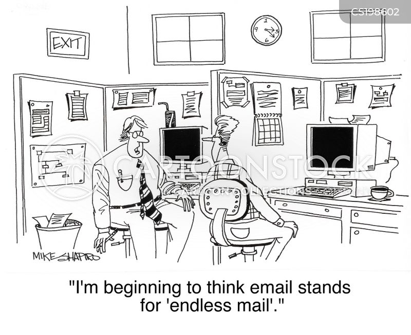 spam email cartoon