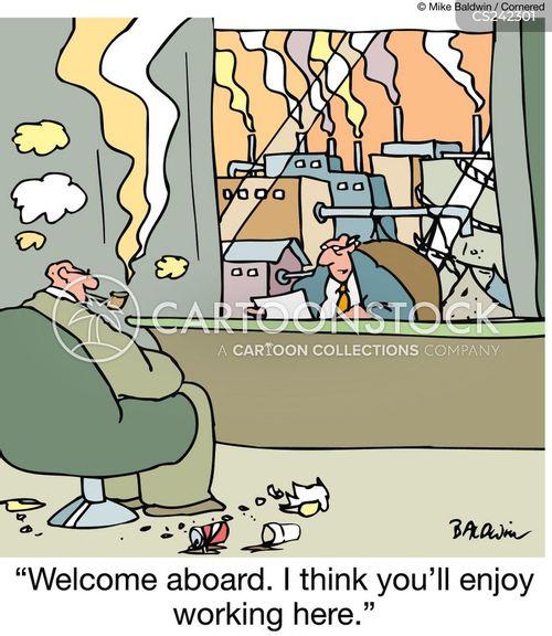 carbon emisions cartoon