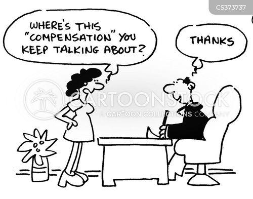 financial compensation cartoon