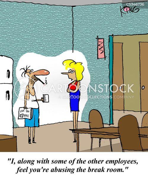 break rooms cartoon