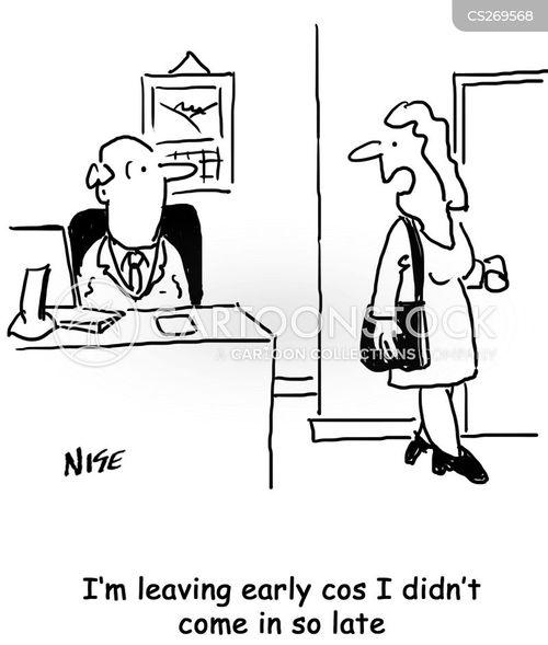 leaving early cartoon