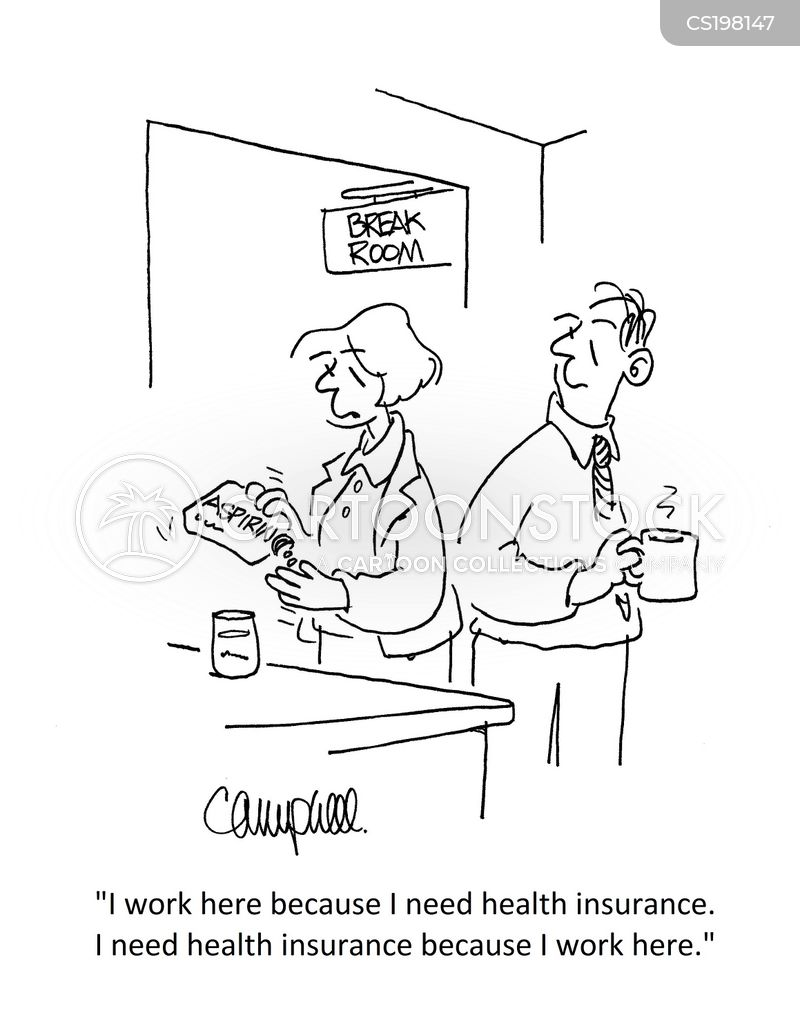 employer health insurance cartoon