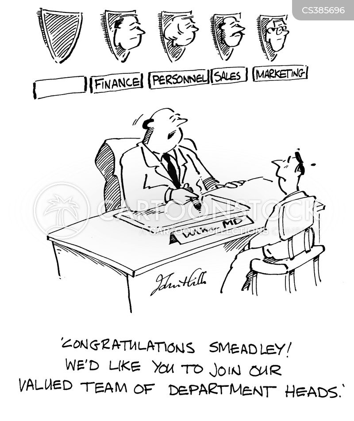 department head cartoon