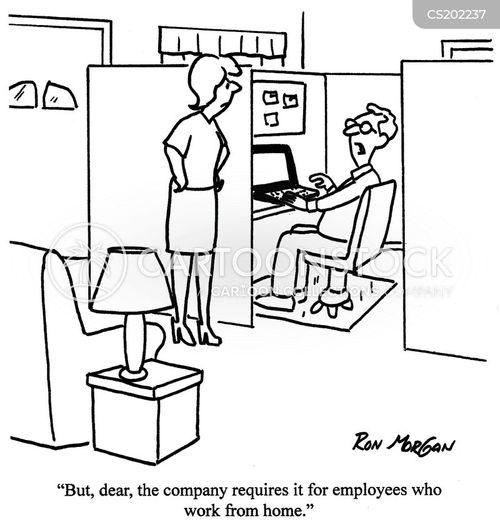 workspace cartoon