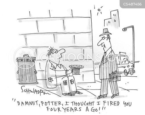 street bum cartoon
