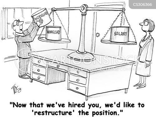company restructuring cartoon
