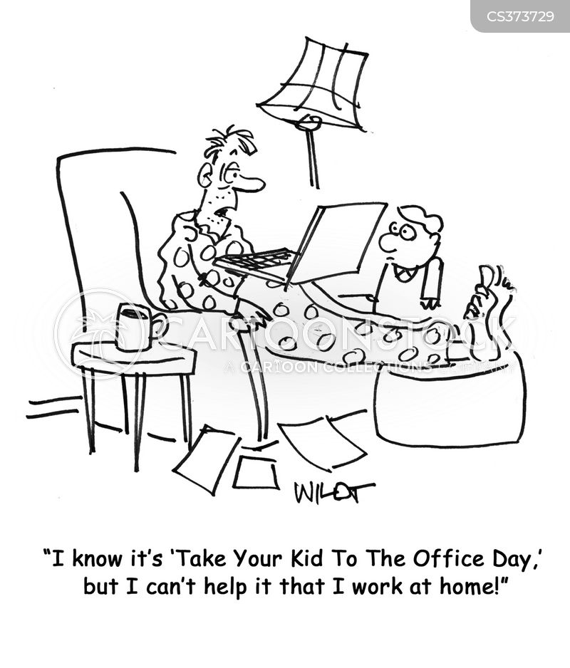 take your kid to the office day cartoon
