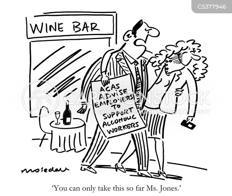 problem drinkers cartoon