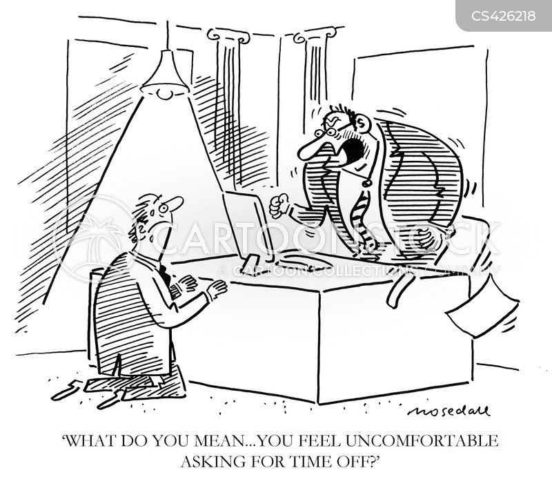 paid leave cartoon