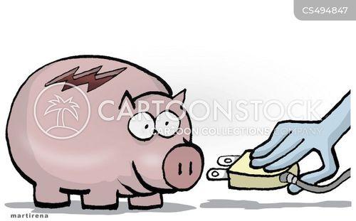 utility cost cartoon