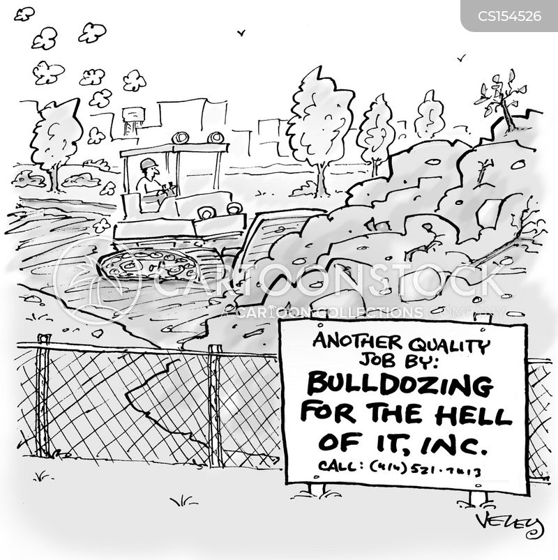 building projects cartoon