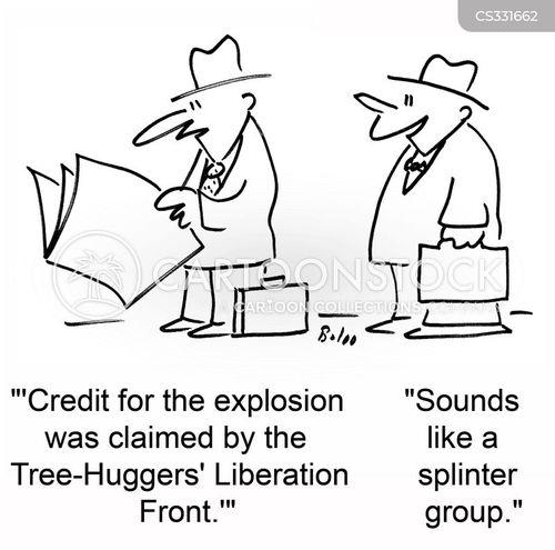 tree-hugger cartoon