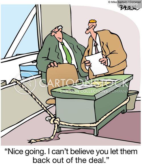lose the sale cartoon