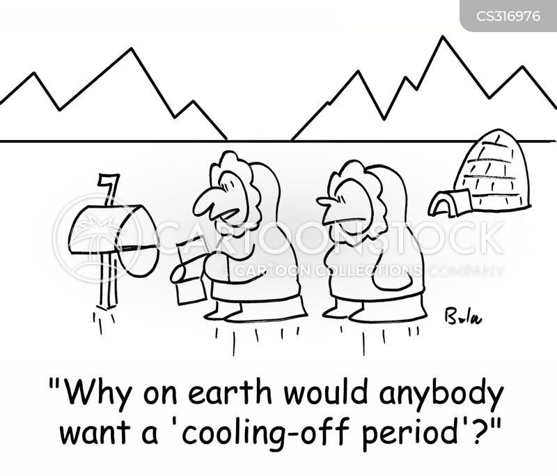 cooling off cartoon