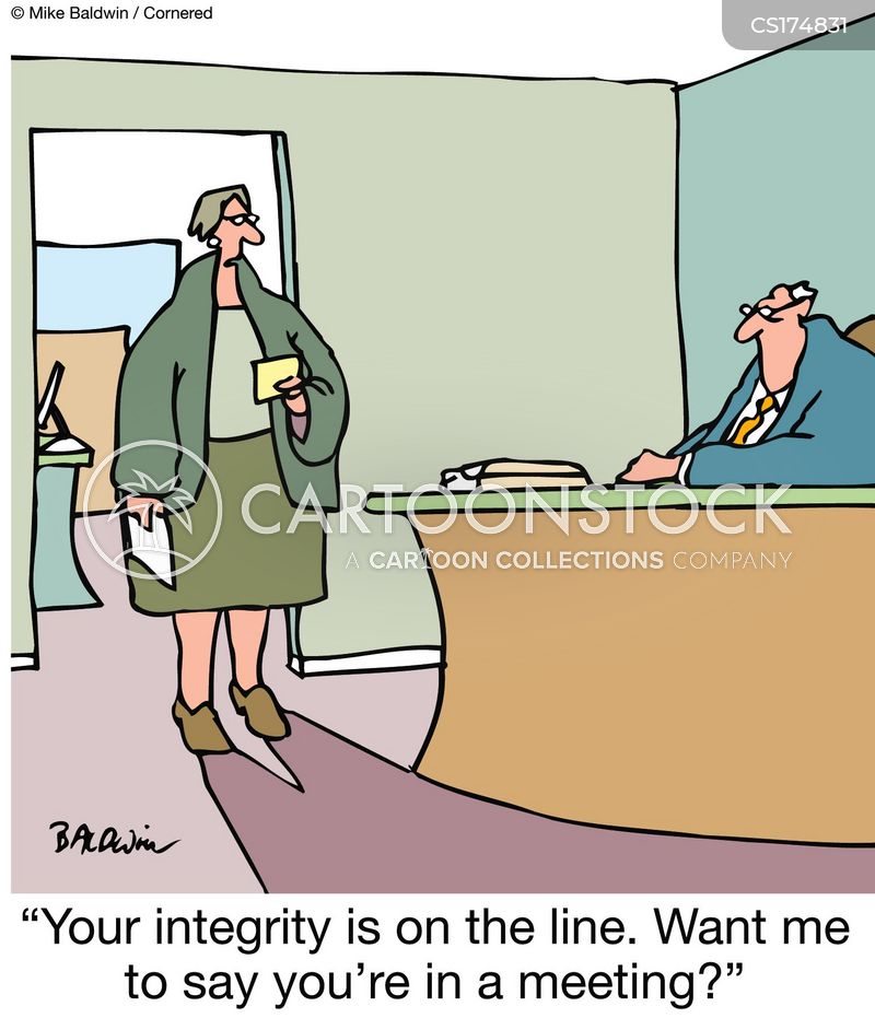 Cartoon – Leadership Integrity on the Line | HENRY KOTULA