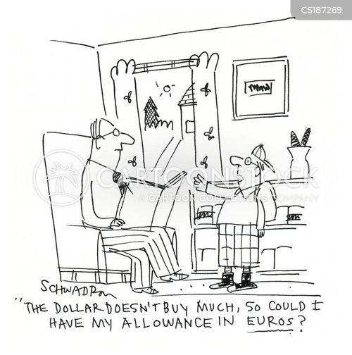 exchange rate cartoon