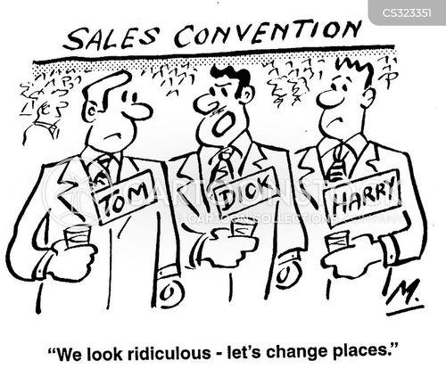 sales conventions cartoon