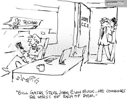 elon musk cartoon