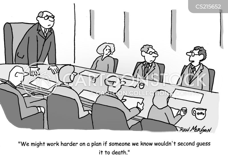 second guessing cartoon
