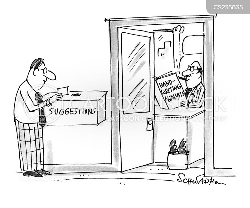 suggestions boxes cartoon