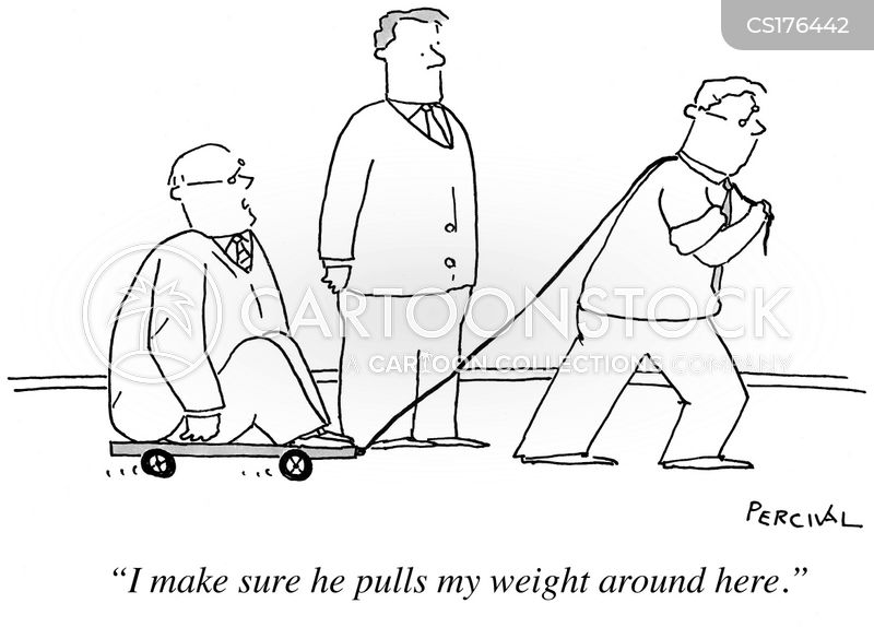 pulling your weight cartoon